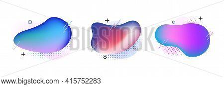 Blob Abstract Shape Organic Banner Design Element. Vector Fluid Round Shape Liquid Amoeba