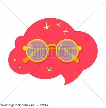 Children Eyeglasses Cartoon Style Illustration. Simple Illustration Of Children Eyeglasses Vector