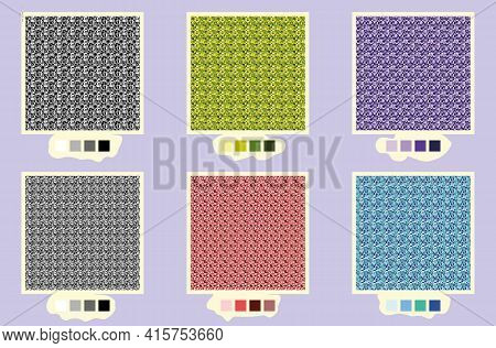 Set Of Tweed Textures In Different Colours