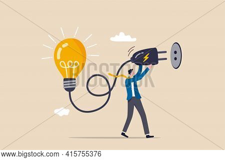 Problem Solving Idea, Invent New Innovation Or Thinking About New Business Idea Concept, Smart Leade