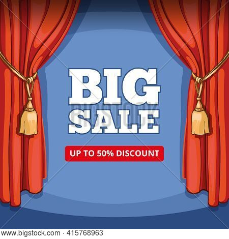 Big Sale, Special Offer Vector Background For Business Promotion. Shopping Discount, Price And Consu