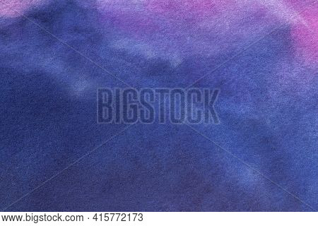 Abstract Art Background Navy Blue And Purple Colors. Watercolor Painting On Canvas With Soft Sapphir