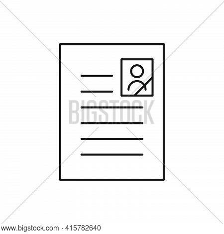Last Will Document. Funeral Paperwork Icon. Death Line Certificate. Burial Concept. Vector Isolated