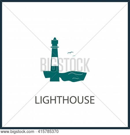 Lighthouse Simple Vector Icon. Lighthouse Isolated Vector Icon.