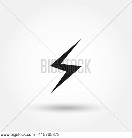 Lightning Icon. Electricity Vector Icon. Electricity Simple Vector Icon.