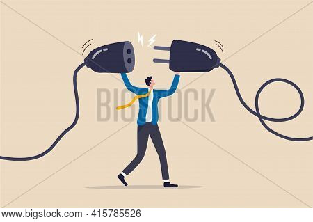 Business Continuity, Energy Recharge Or Connecting People To Advance Or Surpass Work Difficulty Conc