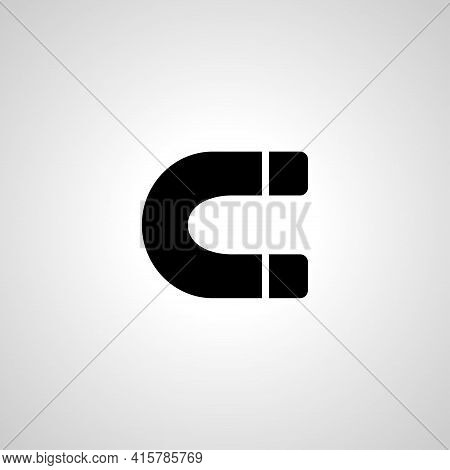 Magnet Simple Vector Icon. Magnet Isolated Icon.