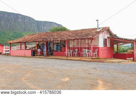 São Roque De Minas - Mg, Brazil - December 13, 2020: Coffee Shop At Serra Da Canastra Region, Quinta