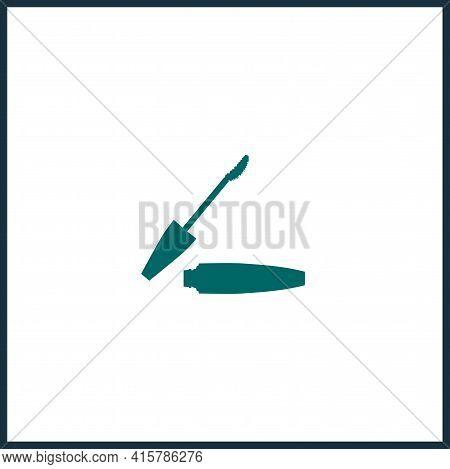 Mascara Brush Simple Vector Icon. Mascara Brush Isolated Icon.