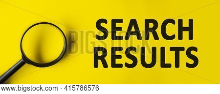 Magnifying Glass On Yellow Background. Top View, Flat Lay. Minimal We Are Hiring Background, Job Vac