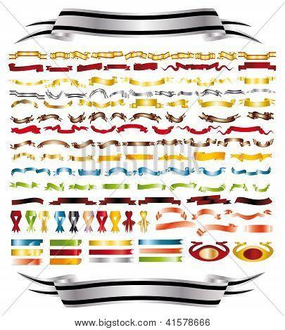 Bänder der verschiedenen Farben