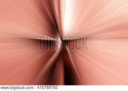 Abstract Radial Zoom Blur Surface Of Pink, Brown, Beige Tones. Abstract Pink  Beige Background With