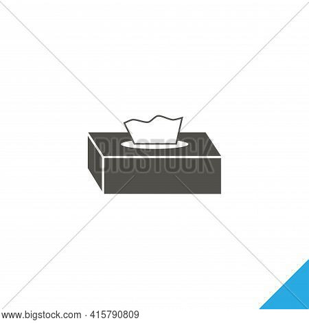 Tissue Paper Box Simple Vector Icon. Tissue Paper Box Isolated Icon.