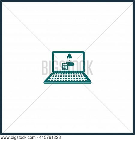 Online Accounting Simple Vector Icon. Accounting Isolated Icon.