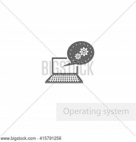 Operating System Icon. It Automation Simple Vector Icon. Operating System Isolated Icon.