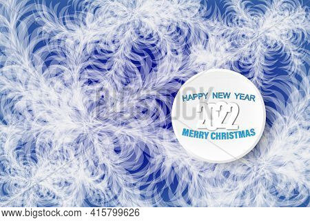 Frozen Abstract Window Background With Hoarfrost Patterns Can Be Used For Christmas Sale Or New Year