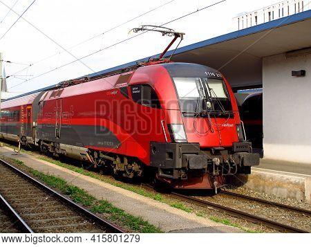 Vienna, Austria - 10 Jun 2011: The Train Station In Vienna, Austria