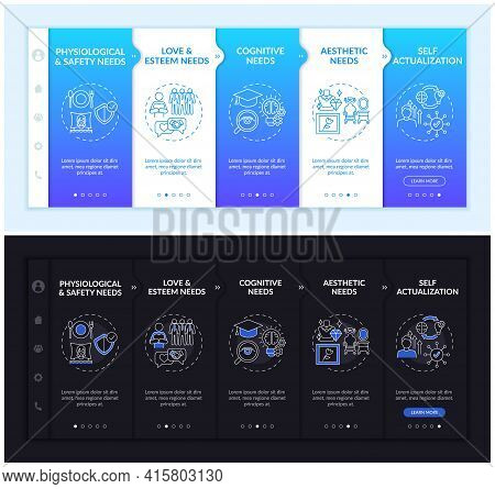 Human Needs Onboarding Vector Template. Responsive Mobile Website With Icons. Web Page Walkthrough 5
