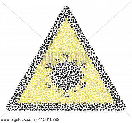 Vector Coronavirus Warning Covid Mosaic Icon Created For Medicare Illustrations. Coronavirus Warning