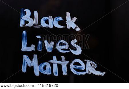 Handwritten Activist Message To Show Protest Agains Racism Black Lives Matter. Text Message Black Li