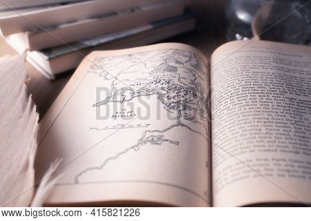 Celadna, Czechia - 04.03.2021: Vintage Paperback Edition Of Tolkien\'s Lord Of The Rings Open On The
