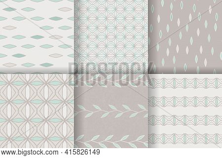 Set Of Seamless Patterns In The Scandinavian Style