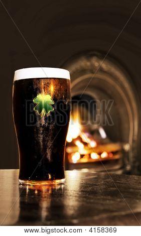 Saint Patrick's Day Black Irish Beer