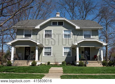 Duplex Housing with Front Porches