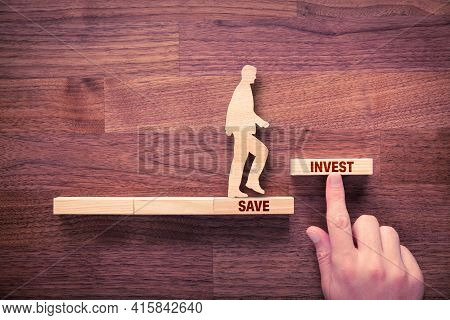 Transform Savings To Investment Concept. Business And Financial Person Motivate Conservative Investo