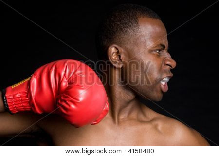 Angry Boxing Man