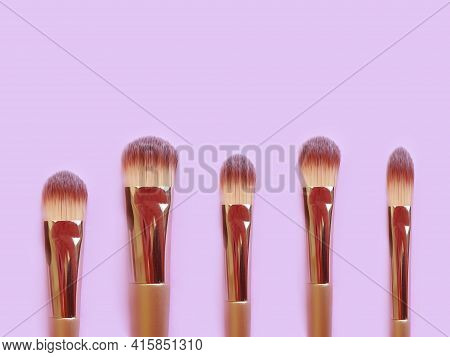 Makeup Brush On Colored Background Product   Color