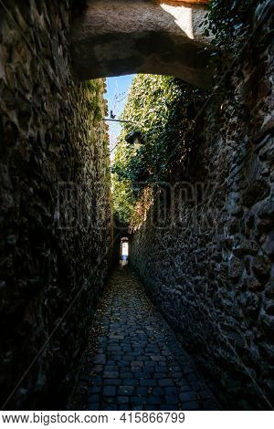 Narrowest Stone Lane In The Czech Republic, Katova Ulicka Or Executioner's Alley, Street With Only 6