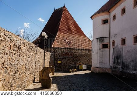 Minorite Bastion, Medieval Gothic Town Fortification, Fortress Wall On Sunny Day At The Top Of The H