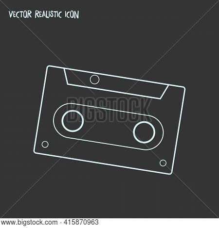 Cassette Icon Line Element. Vector Illustration Of Cassette Icon Line Isolated On Clean Background F