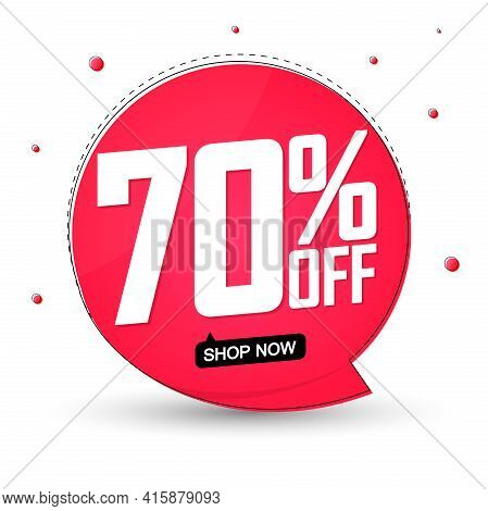 Sale 70% Off, Banner Design Template, Discount Tag, Special Offer, Big Deal, Lowest Price, Promotion
