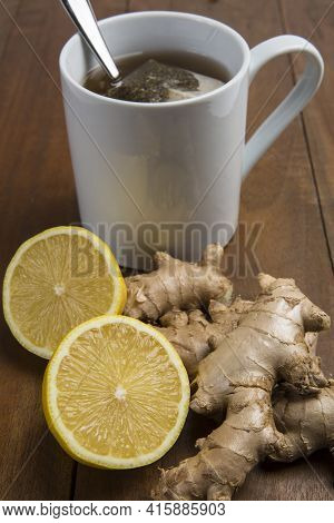 Ginger Citrus Drink, Lemon Made For Strong Immunity With Ginger And Lemon