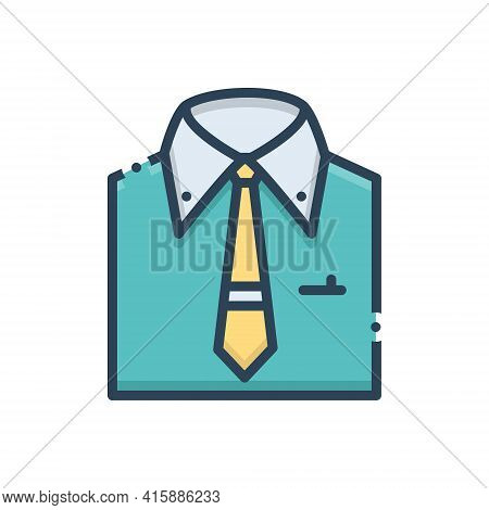 Color Illustration Icon For Menswear Shirt  Garment Fashion