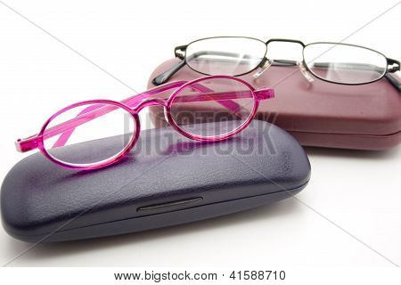Different Eyeglasses with Case