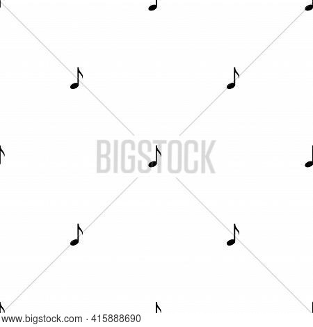 Seamless Ornament With Music Notes On White Background. Song, Melody Or Tune, Volume. Flat Vector Pa