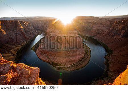 Sunset On Grand Canyon, Glen Canyon, Arizona