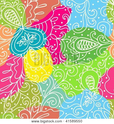 Absaract Bright Colored Pattern