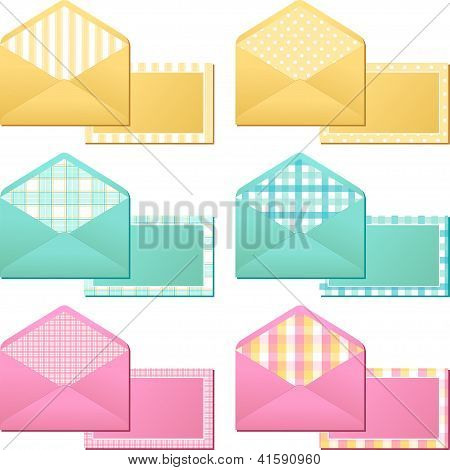 Collection of old  vintage envelopes. This is file of EPS8 format. poster