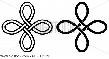 Symbol Of Happiness Talisman Amulet Celtic Knot Vector Symbol Of Attracting Good Luck And Wealth Mon