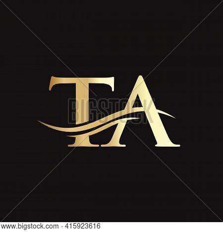 Ta Logo Design. Initial Ta Letter Logo Design.
