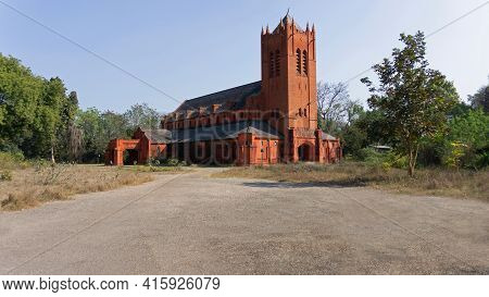 All Saints Garrison Church, Lucknow. Built In 1860. Architecture Inspired By Magdalen College, Oxfor