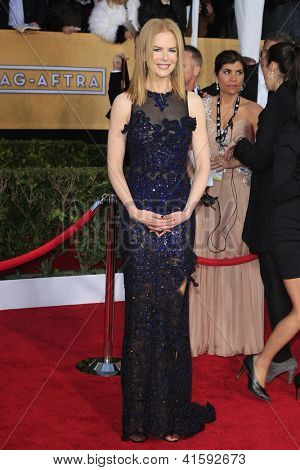LOS ANGELES - JAN 27: Nicole Kidman at the 19th Annual Screen Actors Guild Awards held at The Shrine Auditorium on January 27, 2013 in Los Angeles, California