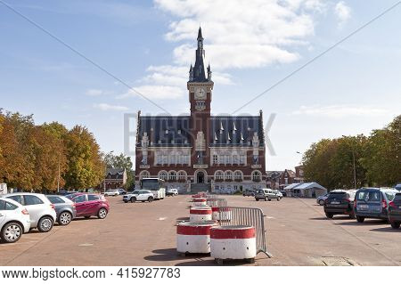 Albert, France - September 12 2020: The Town Hall Inaugurated In 1932 Was Created By The Architects