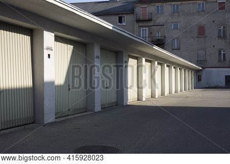 Parking In A Parking Garage, Parking Space For Many Cars