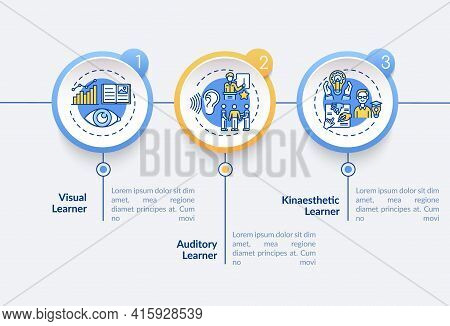 Learning Styles Types Vector Infographic Template. Education Methods Presentation Design Elements. D
