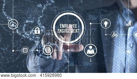 Internet, Business, Technology And Network Concept. Employee Engagement